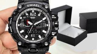 Unboxing of SMAEL Watch Men G Style Wateproof S Shock (First Look Review)