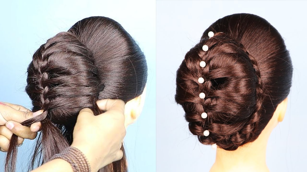 New Donut Bun Hairstyle For Wedding Party Wedding Hairstyles New