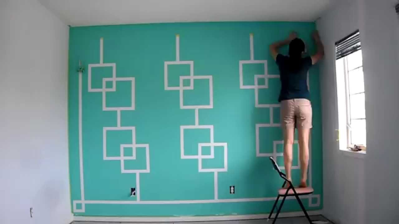 Turquoise Accent Wall - YouTube