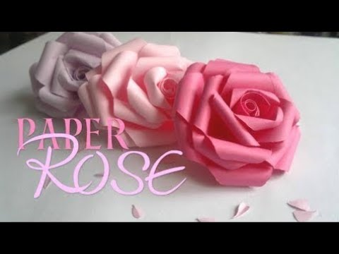 Diy how to make realistic paper roses how to a paper flower youtube diy how to make realistic paper roses how to a paper flower mightylinksfo