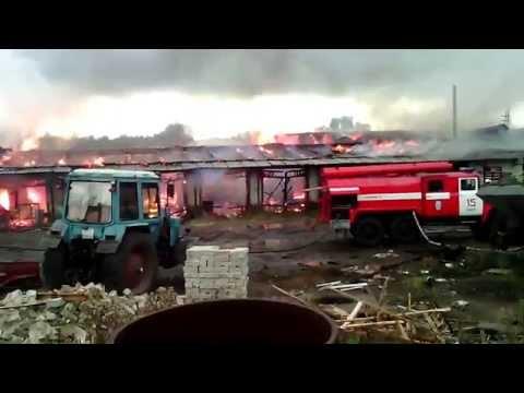 Пожар в коммунальном в Инсаре