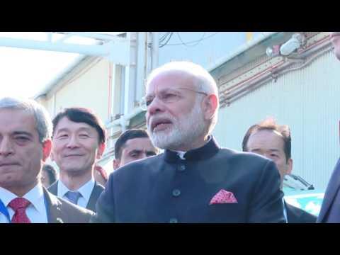 Prime Minister of India visits Kobe