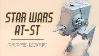 DIY AT-ST star wars wallker papercraft (step by step tutorial)