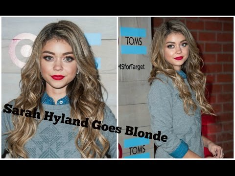 Sarah Hyland Debuts New Blonde Hair Color