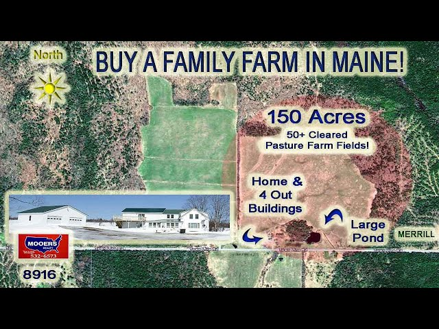 Farms For Sale In Maine Video | 1148 Townline RD Merrill ME MOOERS REALTY #8916