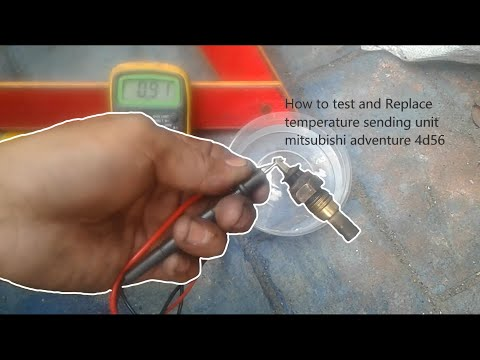 How to test and replace temperature sending unit mitsubishi adventure 4d56
