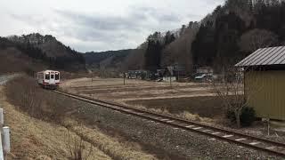 三陸鉄道リアス線(JR山田線)訓練列車(試運転) 津軽石ー八木沢・宮古短大間にて
