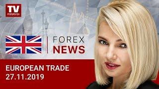 InstaForex tv news: 27.11.2019: EUR/USD testing 1.10 again (USDX, EUR/USD, GBP/USD)