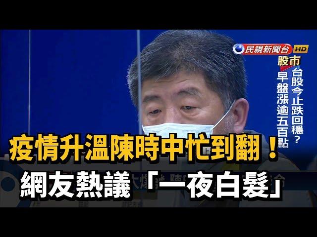 疫情升溫陳時中忙到翻 網友熱議「一夜白髮」-民視台語新聞