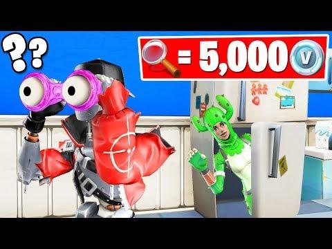 1 HIDER Found = 5000 VBucks HIDE & SEEK (Fortnite Gamemode)
