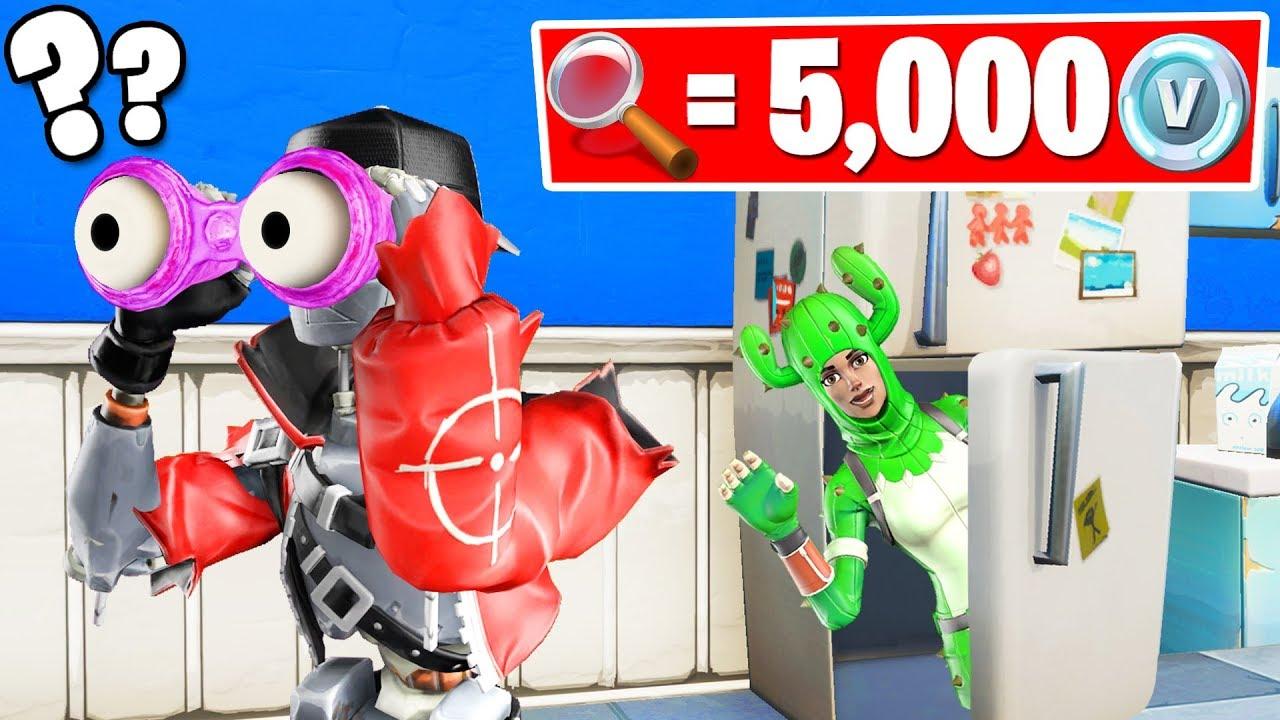 1 HIDER Found  5000 VBucks HIDE  SEEK Fortnite Gamemode