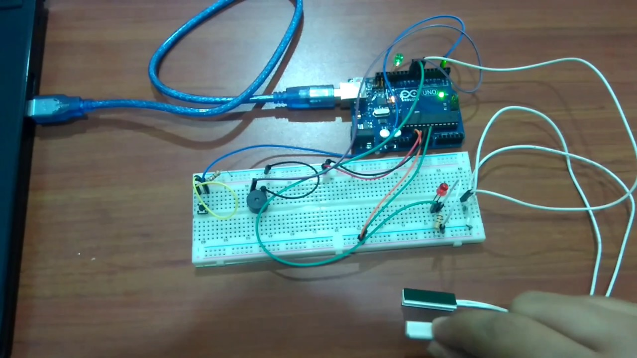 Simple door alarm with arduino - YouTube