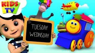 Kids Learning Nursery Rhymes & Children Songs | Bob The Train Cartoons - Kids Tv