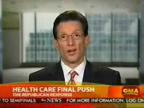 Republican Whip Eric Cantor Reacts To President Barack Obama's Health Care Address