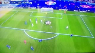 Italien Tor gegen Spanien/1:0/Euro2016