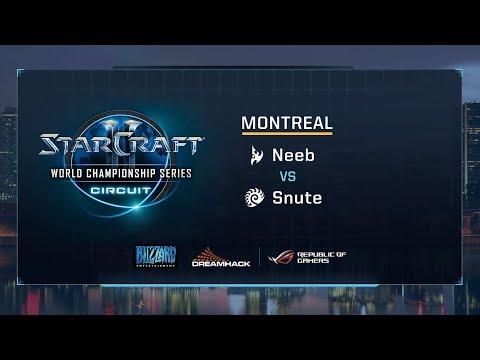Neeb vs Snute PvZ - Grandfinal - WCS Montreal 2017 - StarCraft II