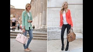 Jeans and blazer outfits women