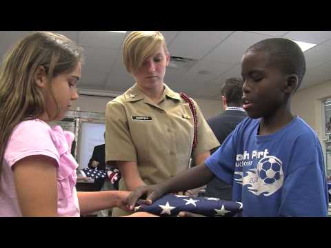 Education Spotlight - Lamarque Elementary School - Flag Etiquette