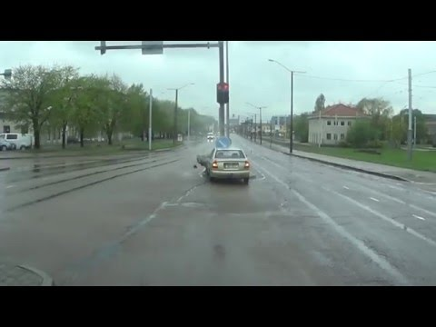 Crazy road rage in Estonia