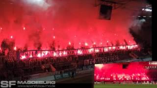 14.03.2012 - 1. FC Magdeburg gegen VFC Plauen - Pyro - www.sportfotos-md.de