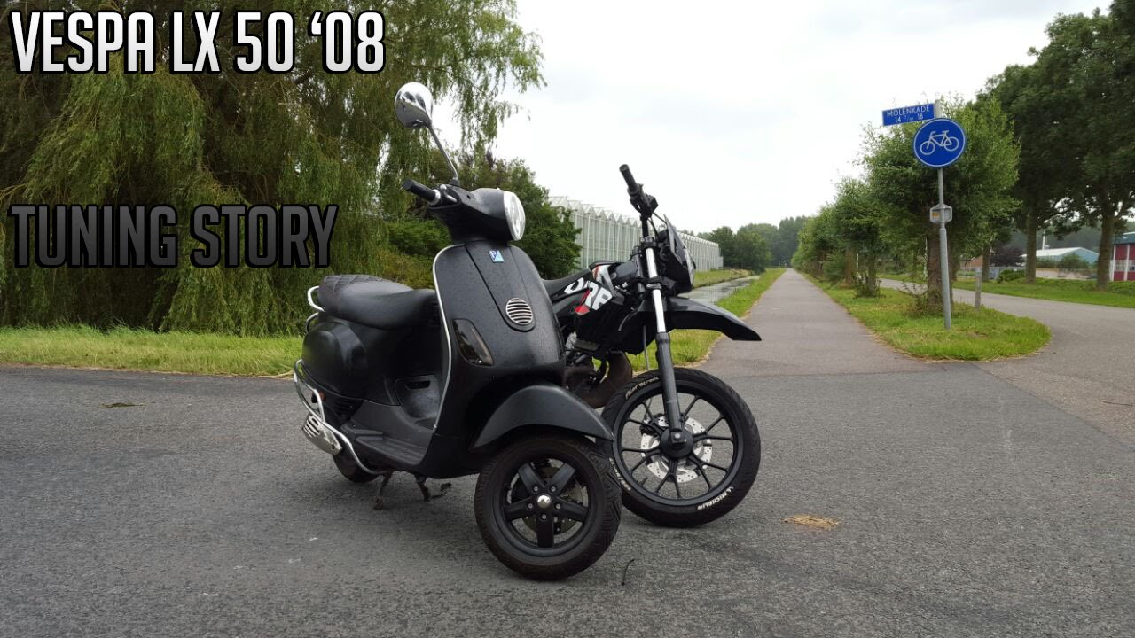 tuning story vespa lx 50 39 08 dutch50riders youtube. Black Bedroom Furniture Sets. Home Design Ideas