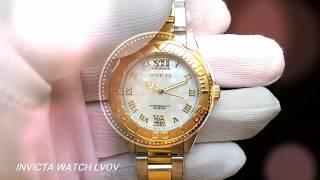 Женские часы Invicta 17871 Pro Diver 38mm Gold Silver 1f660dc28e8