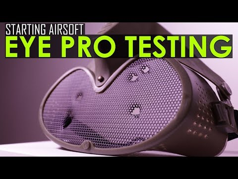 Starting out with Airsoft - Safe Eye Protection/Eye Protection Destruction Testing