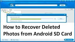 Wondershare Data Recovery - How to Recover Deleted Photos from Android SD Card