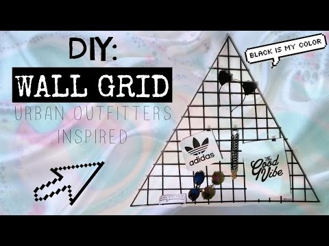 DIY: WALL GRID | URBAN OUTFITTER INSPIRED