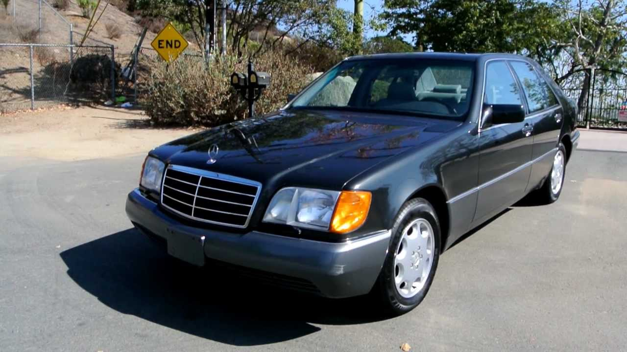 Mercedes benz w140 300se 3 2 s600 s500 chassis s class 600 500 sel 1 owner car guy youtube
