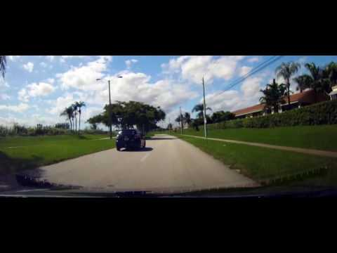 Driving around Homestead, Florida to McDonald's