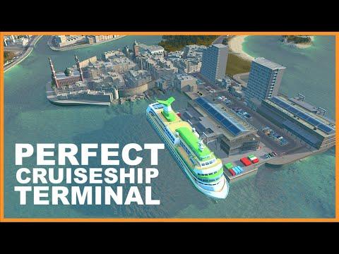 PERFECT Mini Cruiseship Terminal | Cities Skylines