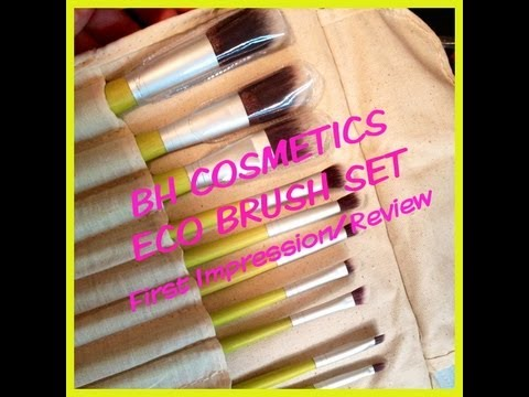 FIRST IMPRESSION/REVIEW- BH Cosmetics Eco Brush Set