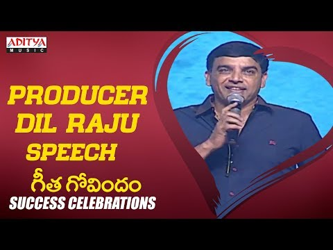 Producer Dil Raju Speech @ Geetha Govindam Success Celebrati