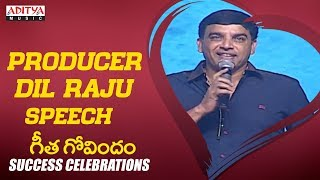 Producer Dil Raju Speech @ Geetha Govindam Success Celebrations || Vijay Devarakonda, Rashmika
