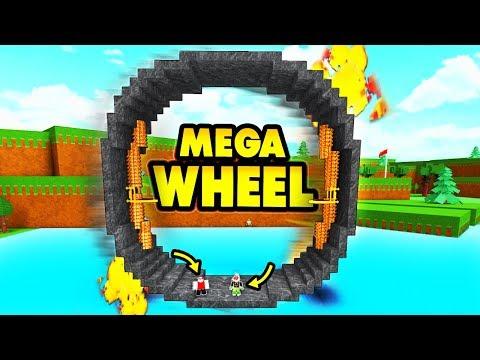 Build a boat MEGA WHEEL!