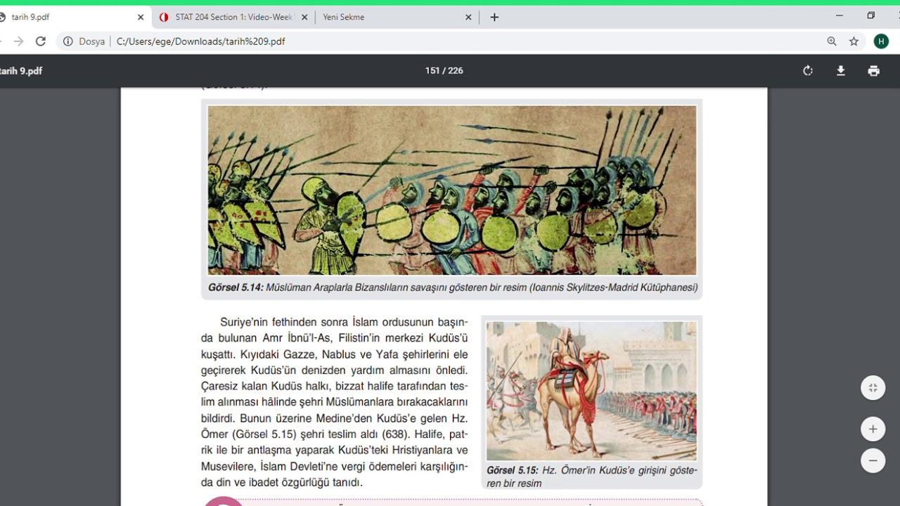 9. Sınıf Tarih (4 Halife Dönemi)