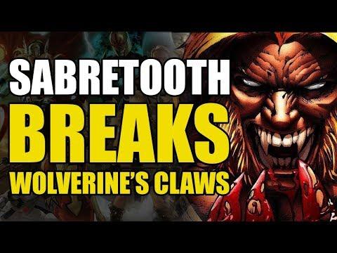 Sabretooth Breaks Wolverine's Claws (Wolverine vs Sabertooth Vol 1)