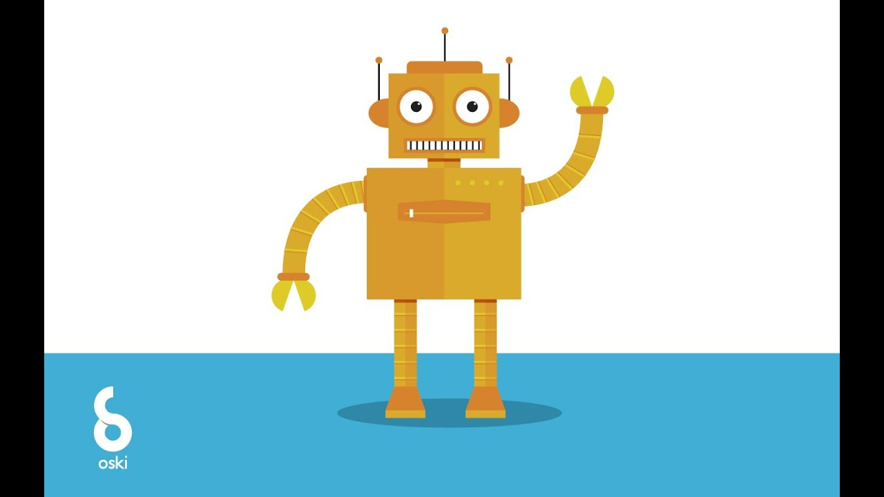 Simple vector robot character in illustrator (tutorial + freebie).