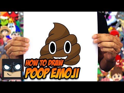 How To Draw Poop Emoji | Step By Step Tutorial