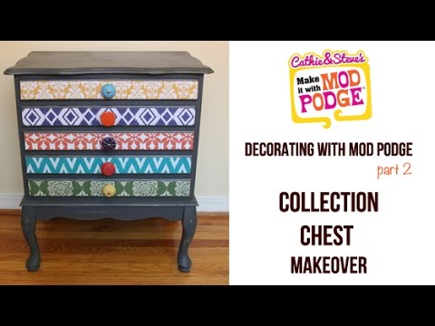 decorating with mod podge how to decoupage furniture youtube