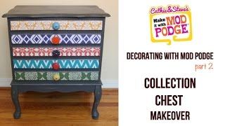 Decorating With Mod Podge: How To Decoupage Furniture