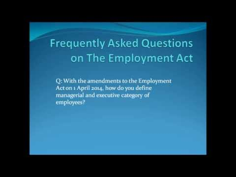 FAQs on The Employment Act Singapore