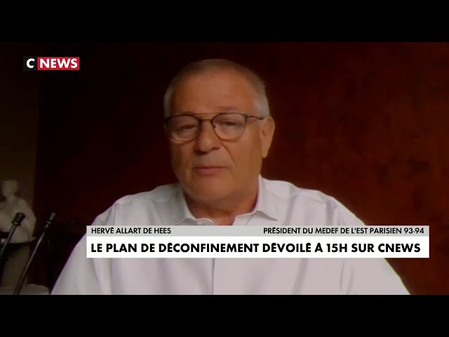 Intervention d'Hervé Allart de Hees le 28 avril 2020 sur Cnews