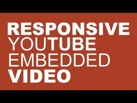 Responsive Embedded Youtube Video Tutorial