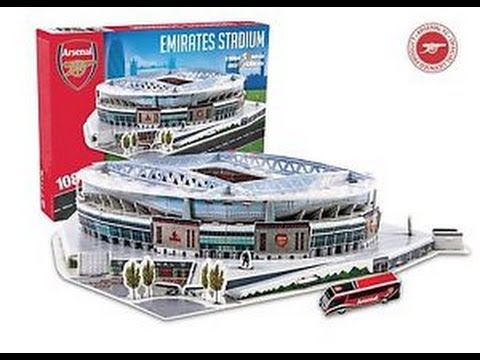 emirates stadium del arsenal f c nanostad puzzle 3d youtube. Black Bedroom Furniture Sets. Home Design Ideas