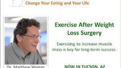 Exercise After Weight Loss Surgery - Dr. Matthew Weiner explains.