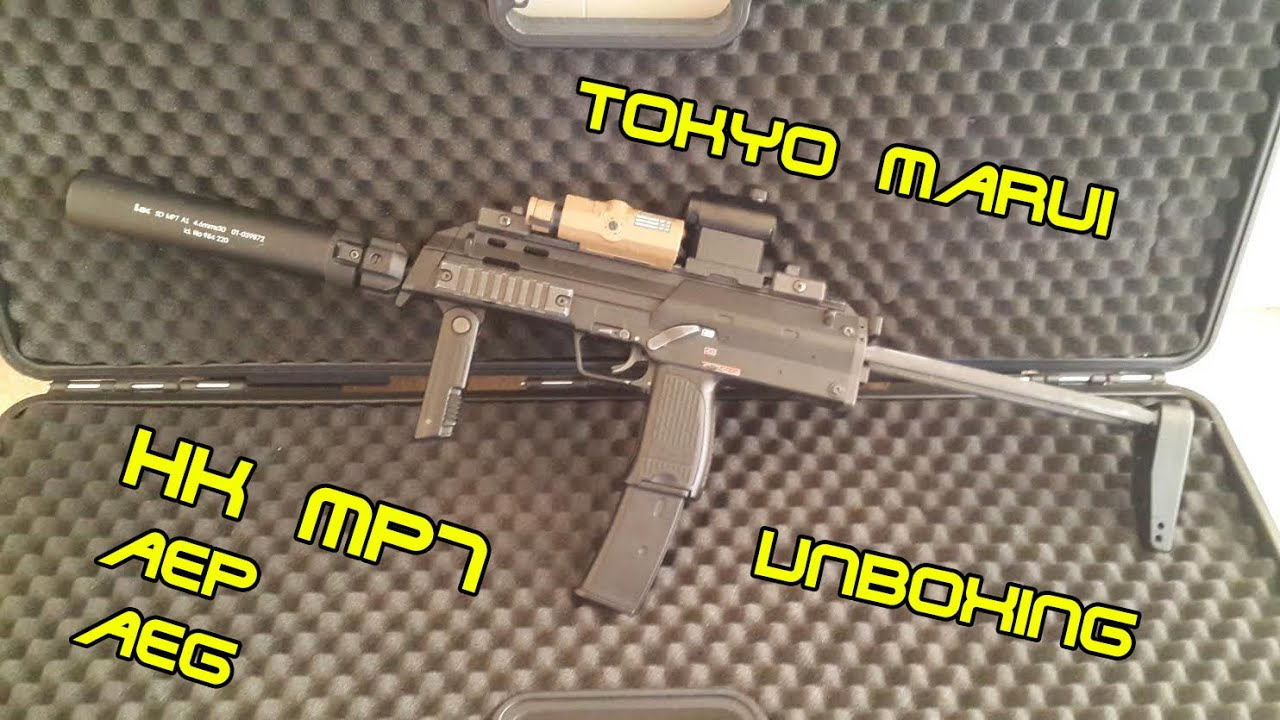Tokyo Marui MP7 aep aeg unboxing and more