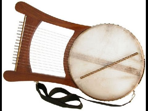 Mid East Ethnic Instrument Manufacturers Evocation of the Biblical Nevel Lyre