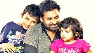 Pawan Kalyan With His Son And Daughter  Photos